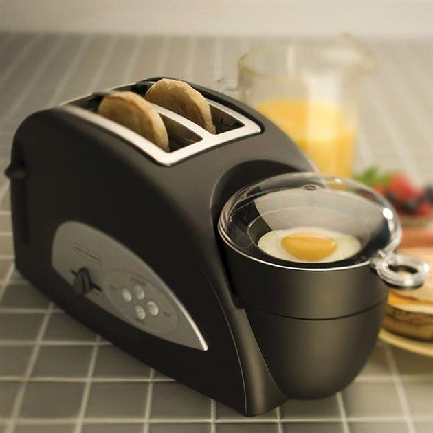 This looks very handy to me! Egg muffin maker all-in-one!