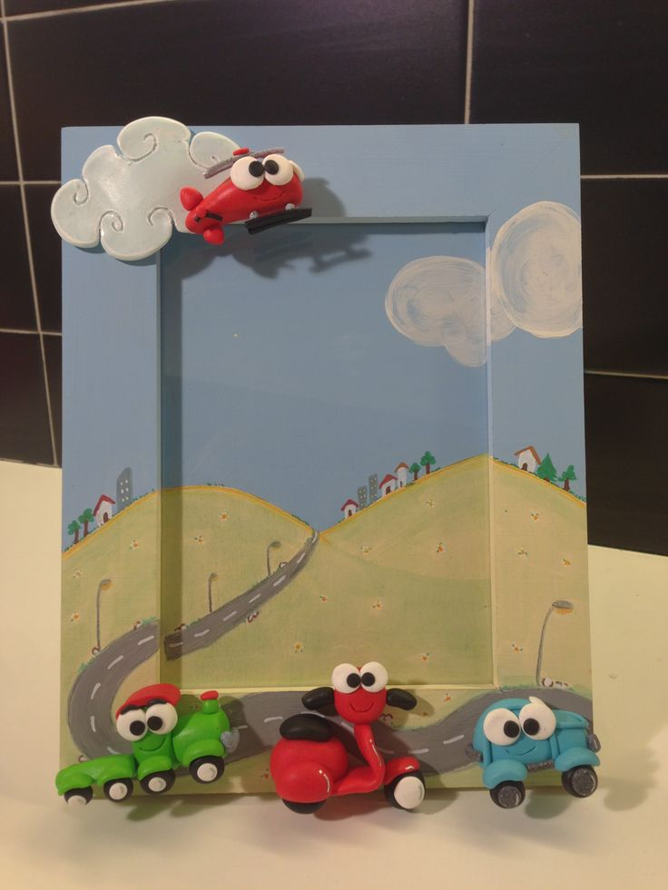 Cute City frame - fimo decorated