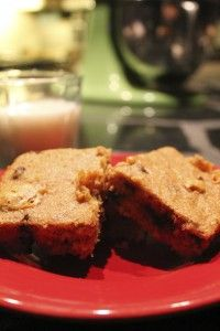 Not so Blondie Brownie #Recipe - with hidden veggies :) from @SoberJulie