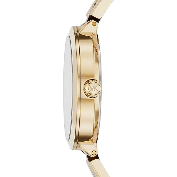 Michael Kors Garner Multifunction Watch - Gold/Tortoise - Women's... ($188) ❤ liked on Polyvore featuring jewelry, watches, metalic, michael kors jewelry, gold watches, tortoise watches, tortoiseshell jewelry and tortoise shell watches