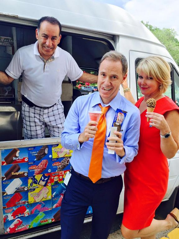 Ice Cream Day at NBC Washington with Jim Handly and Wendy Rieger! #bestDMVsummer