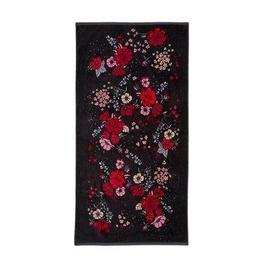 Handduk Alicia design av Malin Gyllensvaan, 70x140 cm, svart
