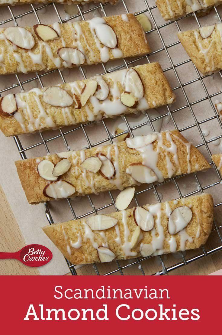 Scandinavian Almond Cookies Recipe Almond Recipes Almond Cookies Food