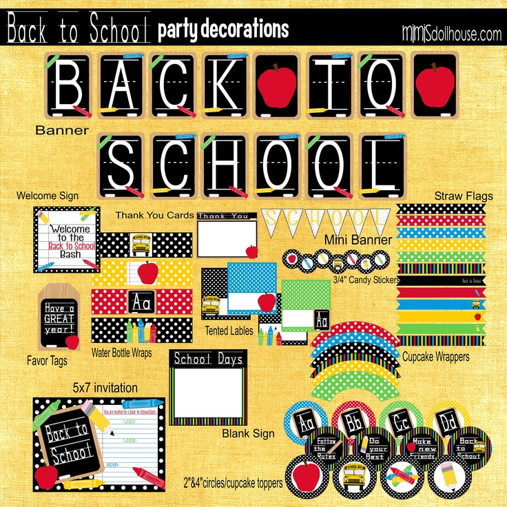 17 Best Images About Back To School Theme Birthday Party