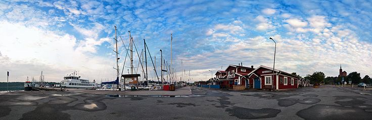 Panorama of the harbour of Nynäshamn, Sweden. Part of the photo project Vida Vyer: Nynäshamn. Photos by Anna Andersson © 2012