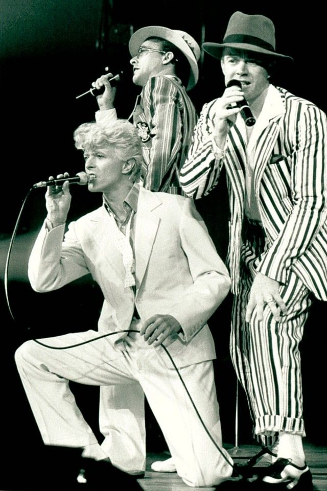 Frank Simms and Bowie