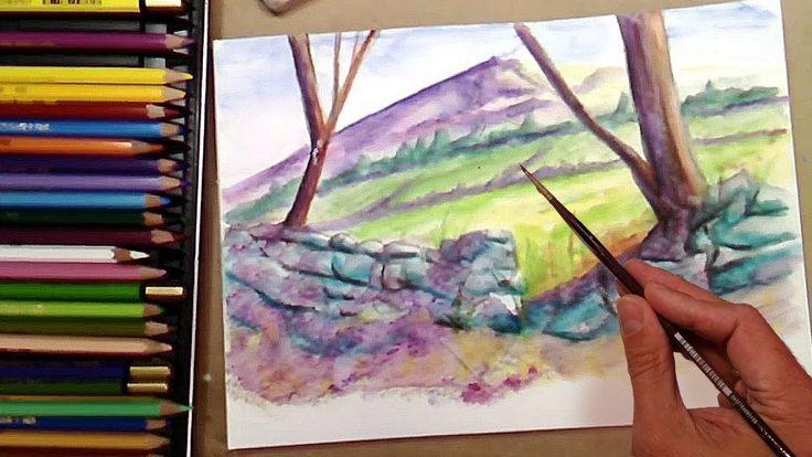 Cómo Pintar Rocas con Lápices Acuarelables: Técnica Acuarela