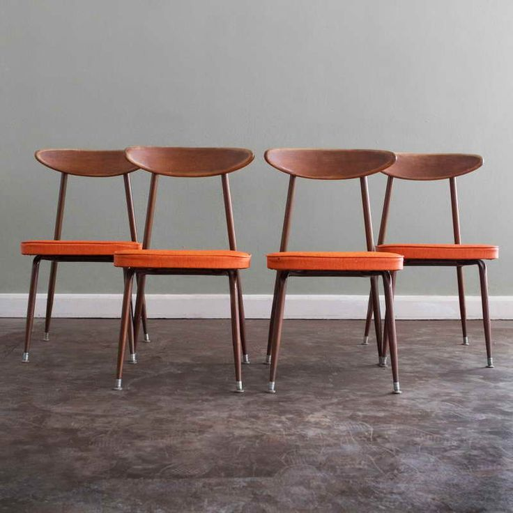 Exceptional Danish Modern Furniture Houston With Orange Seats