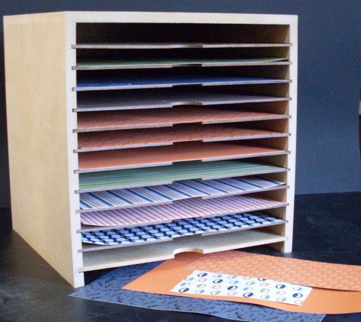 12 best images about craft room and storage ideas on pinterest scrapbook paper storage. Black Bedroom Furniture Sets. Home Design Ideas