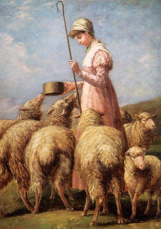 что пастушка и овечка картинки времени само