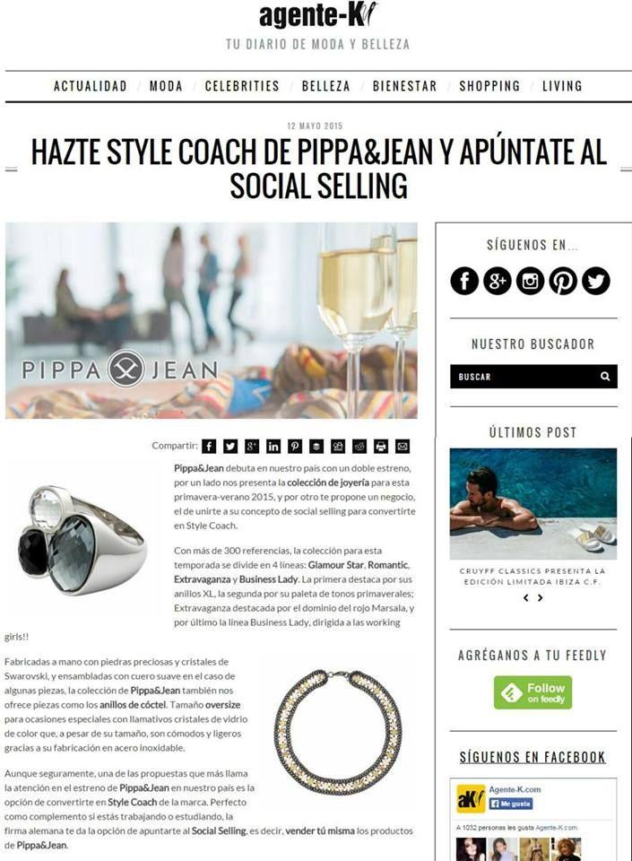 Hazte style coach de Pippa&Jean y apúntate al social selling en agente-k/ #moda #modamujer #prensa #joyas #bisuteria #pippajeans #pippaandjeans #revista #periodico #tv