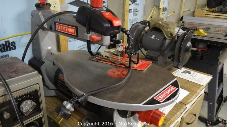 MaxSold - Auction: Dover   Moving Online Auction -Craftsman Scroll Saw and Bench Grinder. Cabinet.