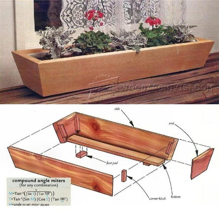 25 best ideas about planter box plans on pinterest wood. Black Bedroom Furniture Sets. Home Design Ideas