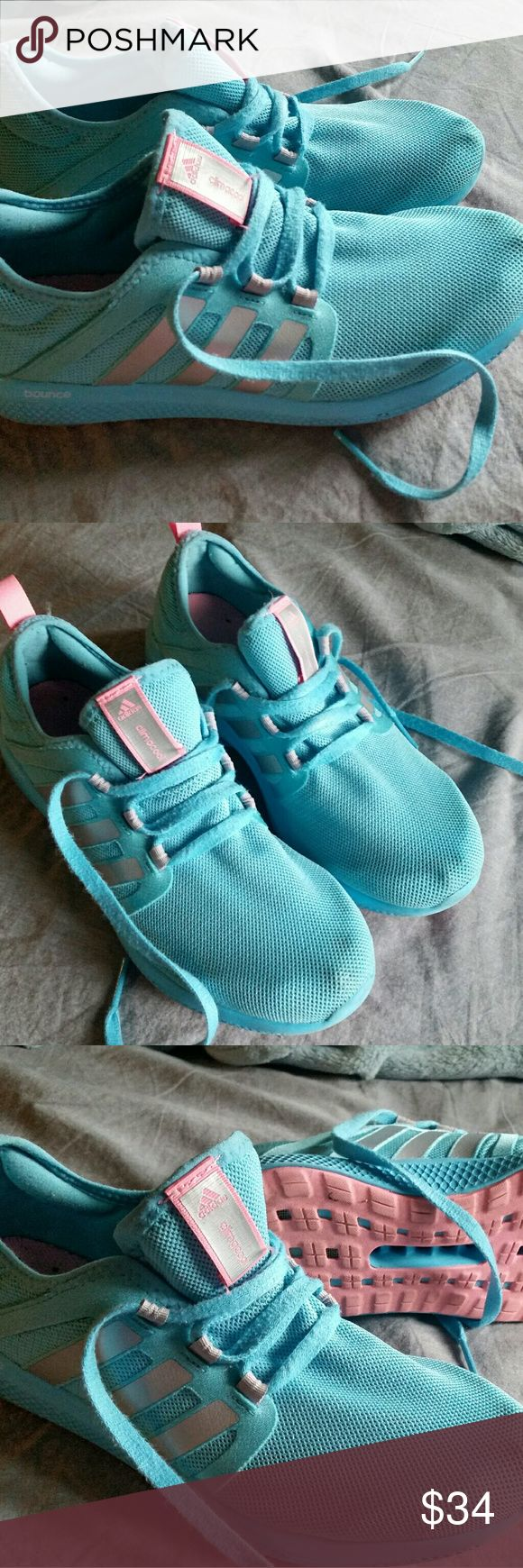 Adidas bounce Worn but, still in great condition, comfortable and cute. Climacool bounce Adidas sneakers size 8 women's. adidas Shoes Athletic Shoes