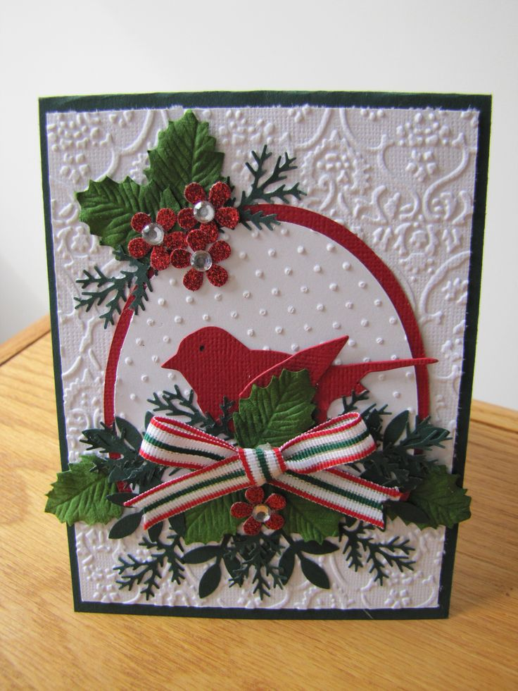 Best images about cards christmas doves birds on
