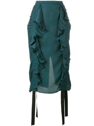 Marco De Vincenzo юбка-карандаш с рюшами