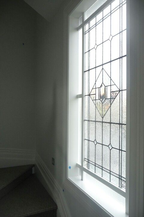 Lead light window in stairwell - Herne Bay, Auckland