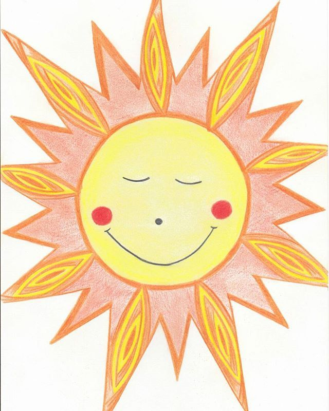 ❤ Zon! #bootsillustraties #illustratie #illustration #drawing #zon #sun
