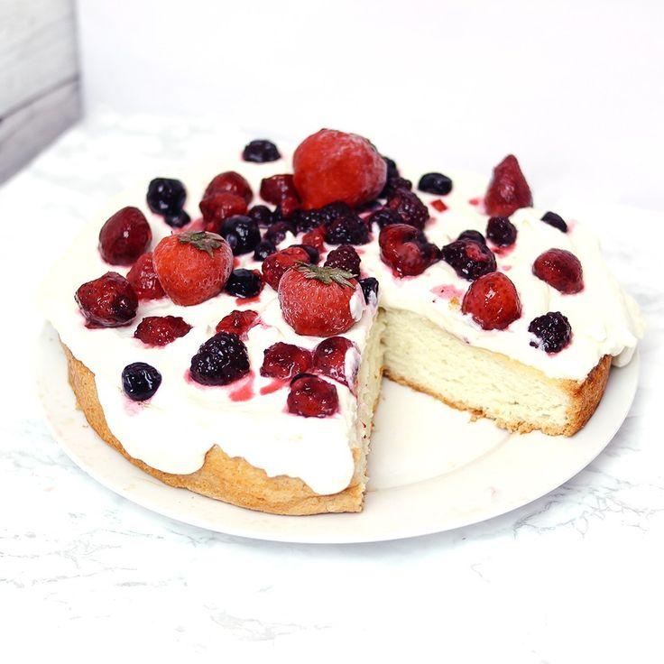 Angel food cake keto low carb gluten free recipe