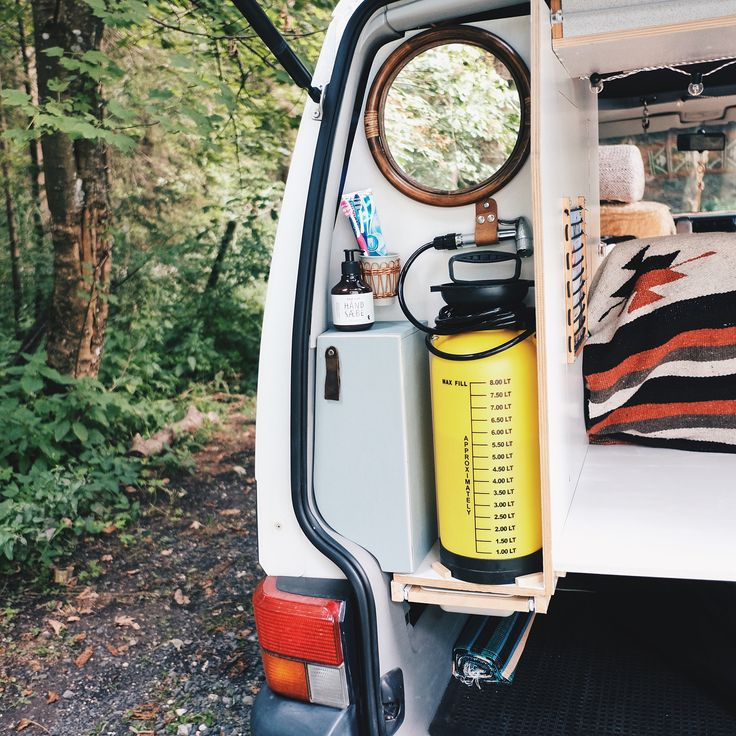 """1,748 Likes, 104 Comments - Pine Pins (@pinepins) on Instagram: """"Check out our 'Kitchen & Bathroom Solution' . This is the water supply we have in our van Rudi …"""""""