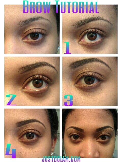eyebrow tutorial for black women | ... brow with eyebrow pencil 2 outline the top of brow with eyebrow pencil