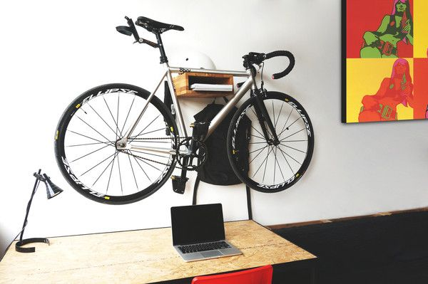 New STOCKHOLM Wooden Bicycle Shelf