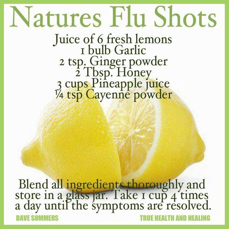 Natural remedy for the flu.