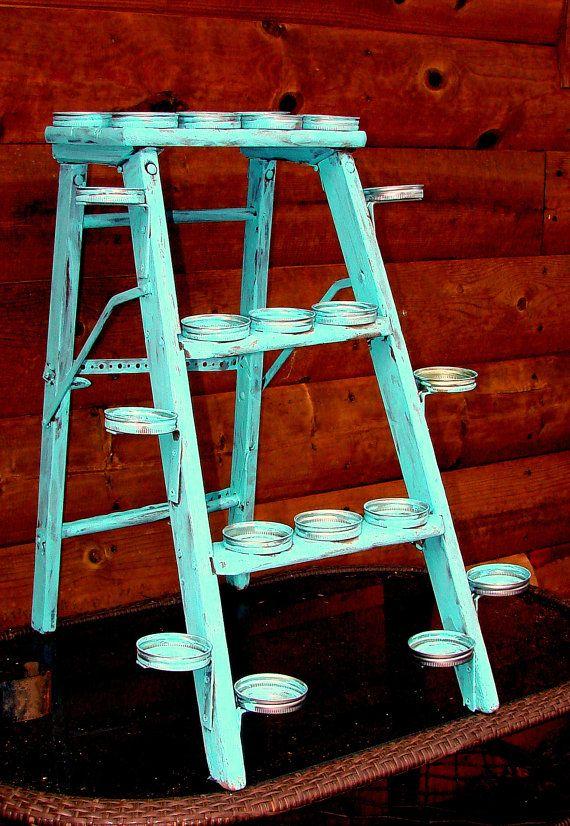 Rustic Cupcake Holder Country Wedding Etsy Wedding Decor Turquoise Cottage Chic via Etsy