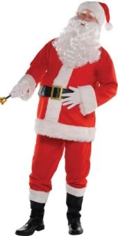 Flannel Santa Suit for Adults