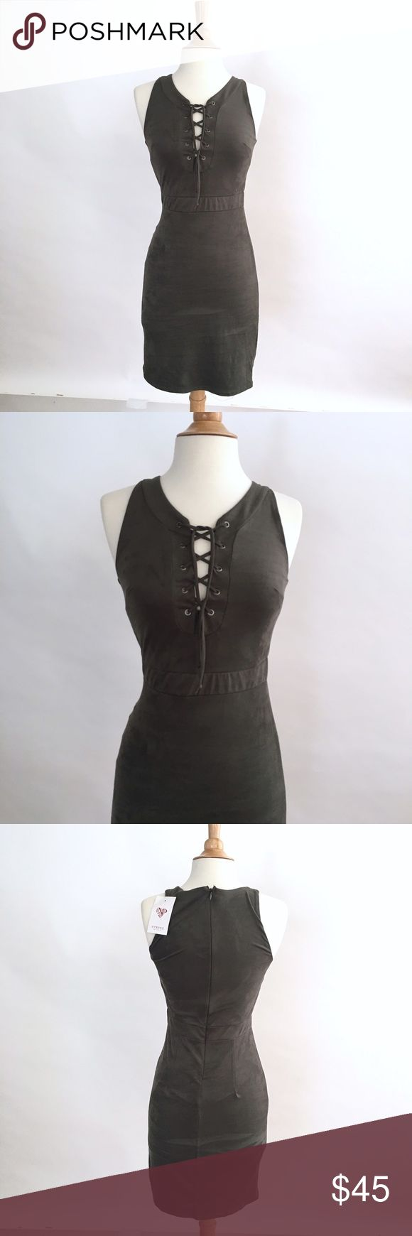 NYMPHE Lace-Up Dress Sleeveless  Hidden zipper in back  Lace up chest  Straight hem  Lined  Grey with tones of green  90% Polyester 10% Spandex  Size: Small  Length: 35in  Bust: 13.5 (Armpit to Armpit)  Hips: 15in    Condition: No stains, wear or tear.   ☑️No Pets  ☑️Non-Smoking home  ☑️Every item steamed throughly before shipped!  💌 Ships from Santa Monica, CA  🗝Follow me on Instagram! @koukil1908 ask to have a video of the item ✌️ Nymphe Dresses