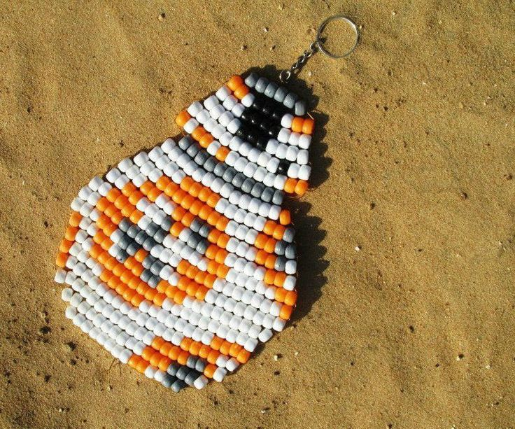 """Interested in Star Wars? Like beading? If so, I can show you how to create your very own beaded keychain designed after BB-8 from the new movie """"The Force Awakens"""". I used pony beads because they were all I had, but if you used mini-pony beads or even smaller ones they would work just as well. In fact, mine is quite large to be a keychain, so the smaller the beads the smaller your finished product will be. In addition, don't worry about it changing the look, it won't. T..."""