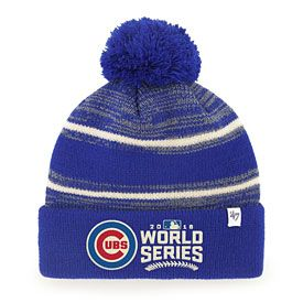 Chicago Cubs 2016 World Series Fairfax Knit Hat with Pom