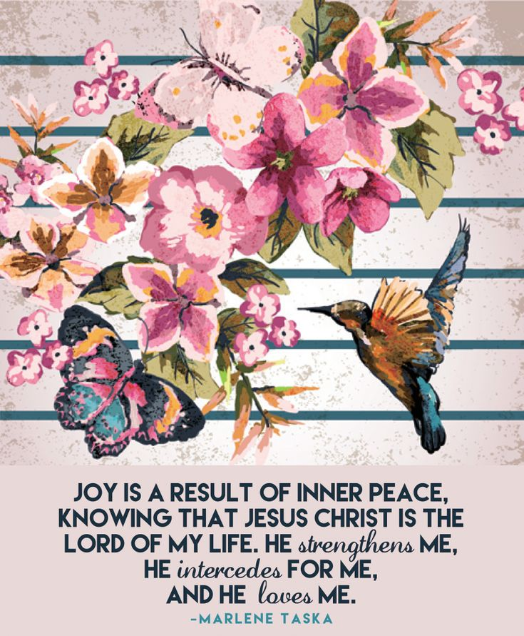 Joy comes from Jesus. :)