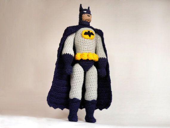 Batman CROCHET toy PATTERN / Batman amigurumi pattern /  DIY Batman doll  / amigurumi design for comic superhero / gift idea for boys