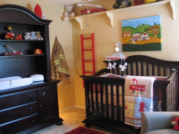 Fire Fighter themed boys nursery