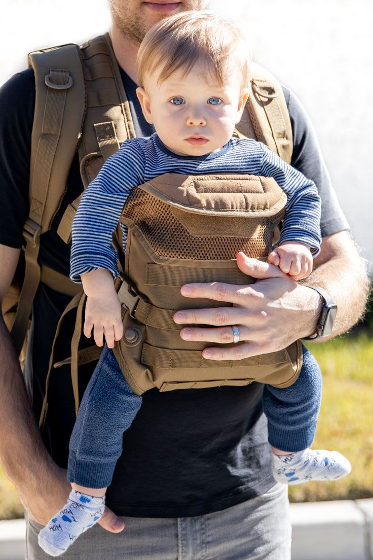 0bcbac3f7 Rear or Forward facing baby carrier. Certified by BCIA for safety and  durability for you and baby. Military style Molle web compatibilty.
