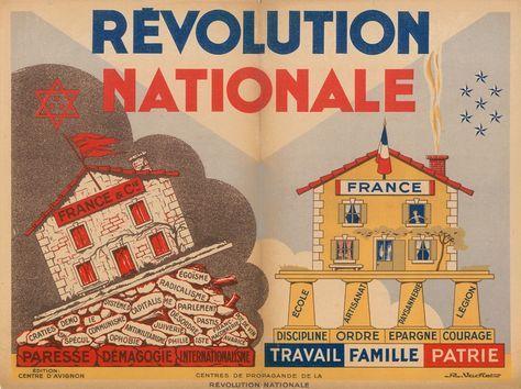 Affiche de propagande du régime de Vichy.