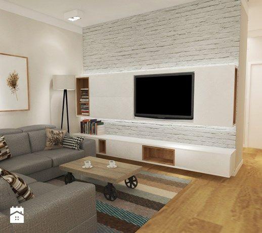 Salon styl Skandynawski - zdjęcie od Grafika i Projekt