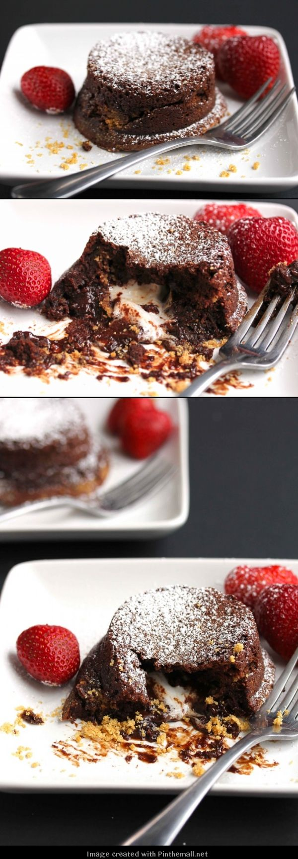 S'more Lava Cake: A Decadent chocolate cake with a surprise of oozing toasted marshmallow and graham crackers