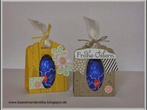 Ostereier Verpackung mit der gewellten Anhängerstanze von Stampin' Up!  #stampinup #Osterideen
