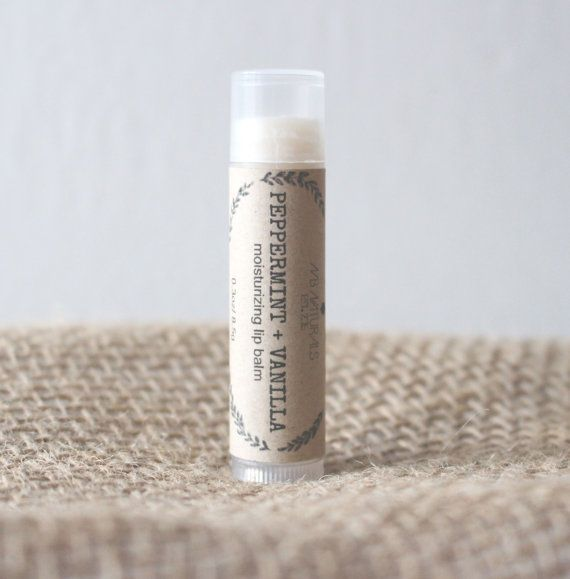 Peppermint Vanilla is a #cooling blend reminiscent of a candy cane! Peppermint essential oil provides a cooling effect on contact with the lips, perfect for #soothing when #winter weather wreaks havoc.
