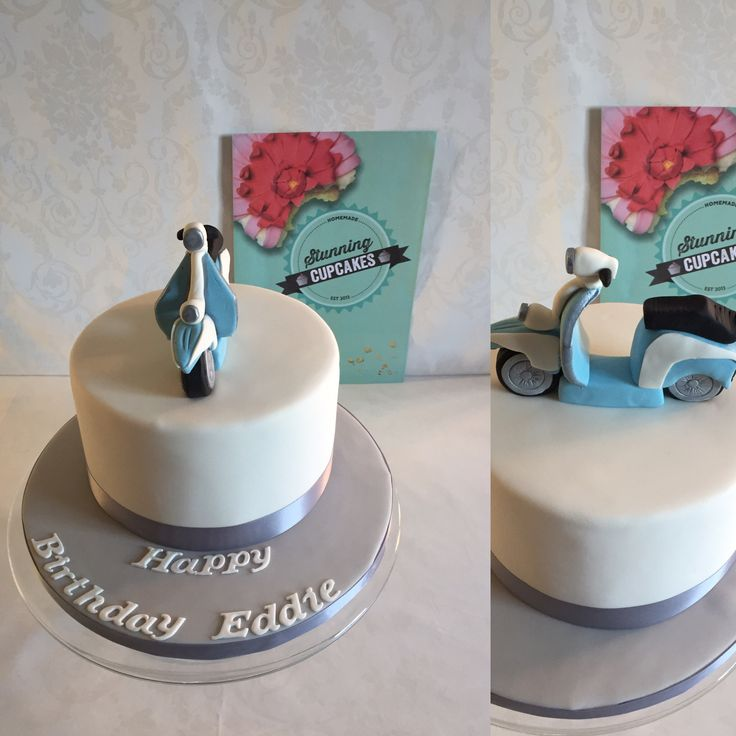 ... Vespa Cake on Pinterest  Cake topper tutorial, Cakes and Tree cakes