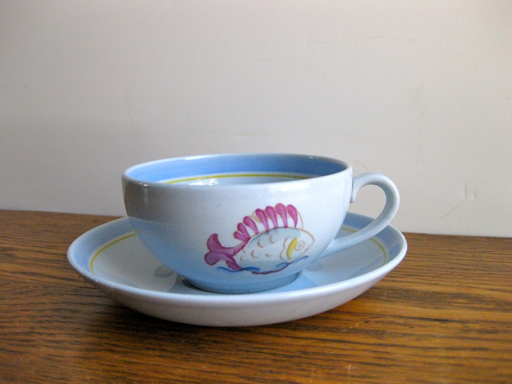 Vintage Arabia of Finland Cup and Saucer. -Sold.