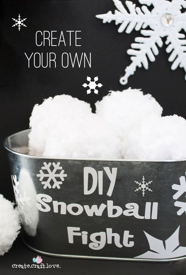 Create your own DIY Indoor Snowball Fight with just some yarn!!  via createcraftlove.com