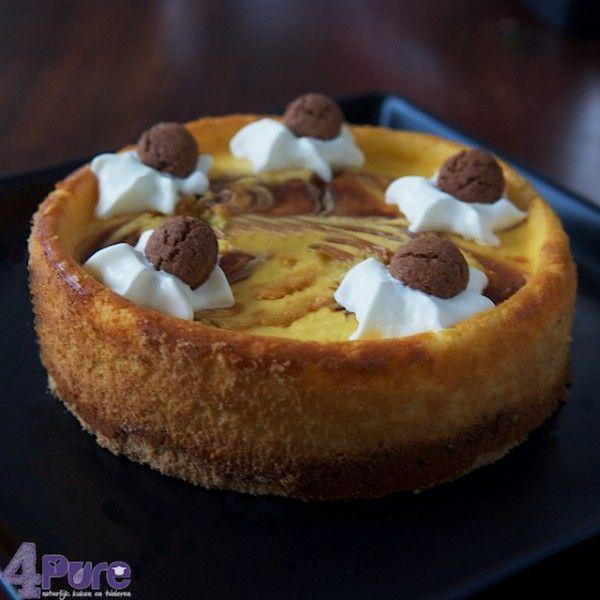 Sinterklaas cheesecake met pepernoten. Lekker voor het heerlijke avondje!