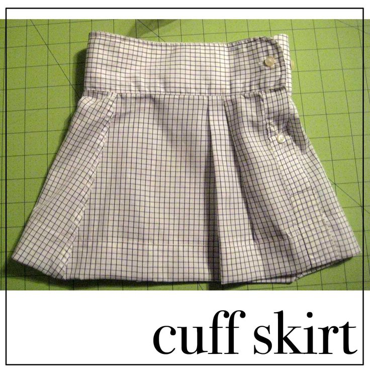 """American Girl 18"""" Doll easy skirt using a button down shirt sleeve. Love The Up-Cycle :)"""