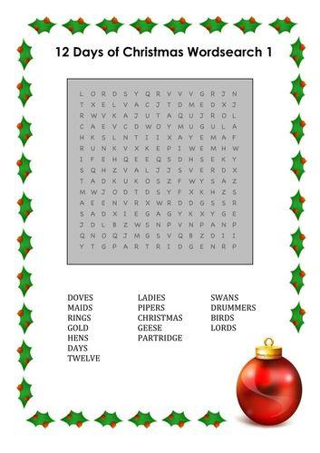 Christmas wordsearches for KS1 & KS2   Christmas school ...