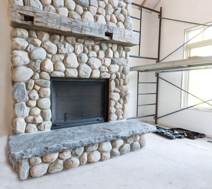 Best 25 River Rock Fireplaces Ideas On Pinterest Rock Fireplaces River Rock Stone And Rock