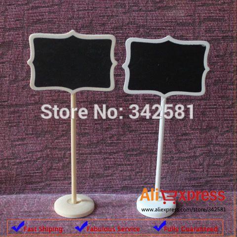 10x mini krijtbord schoolborden op stok houder staan plaats merk  nieuwe | bruiloft feest decoraties gratis in Event & Party Supplies van Huis & Tuin op Aliexpress.com