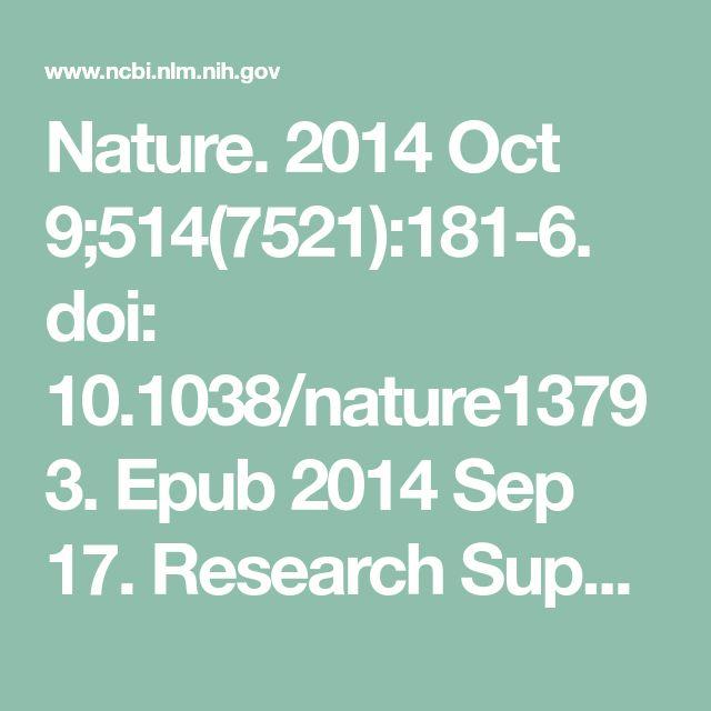 Nature. 2014 Oct 9;514(7521):181-6. doi: 10.1038/nature13793. Epub 2014 Sep 17. Research Support, Non-U.S. Gov't